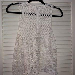Crochet halter tank top